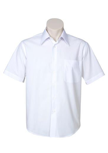 Biz Collection-Biz Collection Mens Metro Short Sleeve Shirt-White / S-Corporate Apparel Online - 11