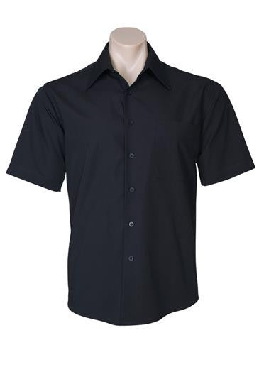 Biz Collection-Biz Collection Mens Metro Short Sleeve Shirt-Black / S-Corporate Apparel Online - 2