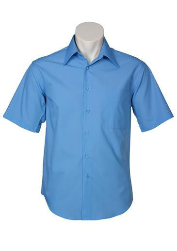 Biz Collection-Biz Collection Mens Metro Short Sleeve Shirt-Mid Blue / S-Corporate Apparel Online - 6