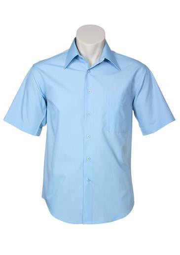 Biz Collection-Biz Collection Mens Metro Short Sleeve Shirt-Sky / S-Corporate Apparel Online - 1