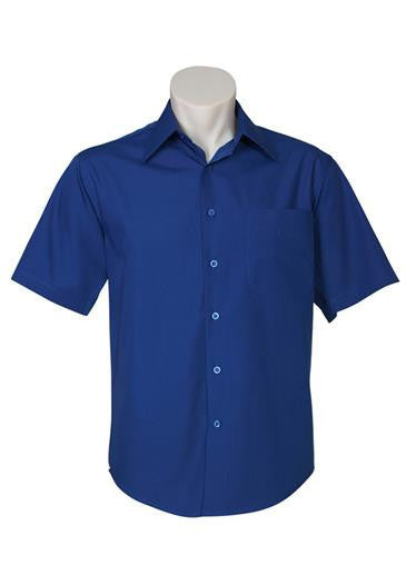 Biz Collection-Biz Collection Mens Metro Short Sleeve Shirt-Royal / S-Corporate Apparel Online - 9