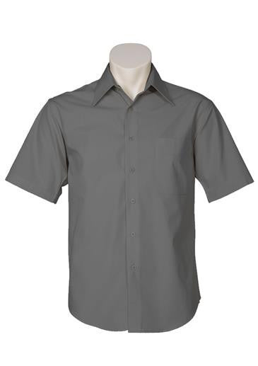 Biz Collection-Biz Collection Mens Metro Short Sleeve Shirt-Charcoal / S-Corporate Apparel Online - 5