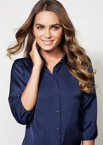 Biz Collection-Biz Collection Ladies Shimmer Blouse--Corporate Apparel Online - 1