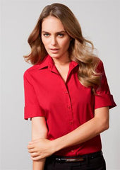 Biz Collection-Biz Collection Verve Ladies Short Sleeve Shirt--Corporate Apparel Online - 1