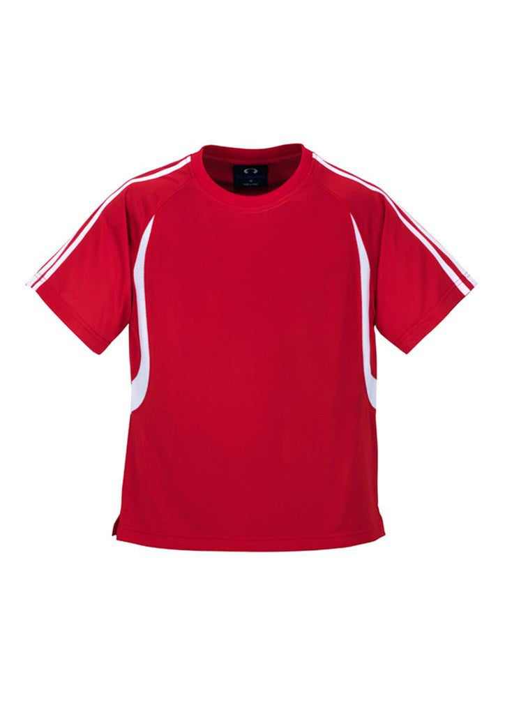 Biz Collection-Biz Collection Kid's Flash Tee 2nd ( 5 Colour )-Red / White / 4-Corporate Apparel Online - 2