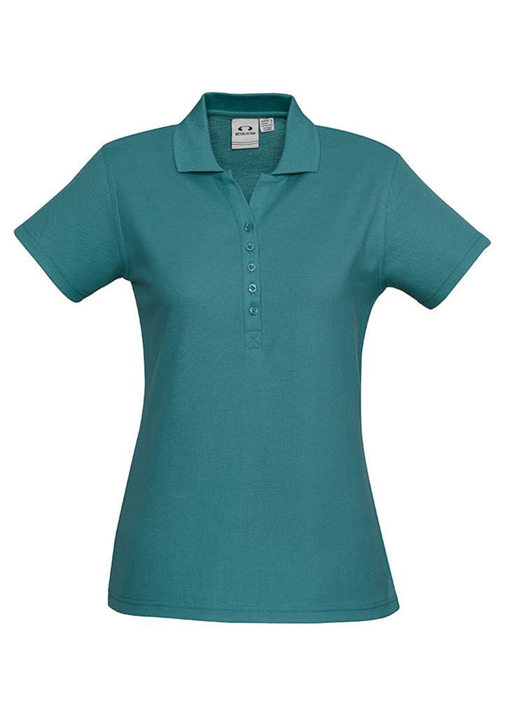 Biz Collection-Biz Collection Ladies Crew Polo(1st 10 Colours)-Teal / 8-Corporate Apparel Online - 6