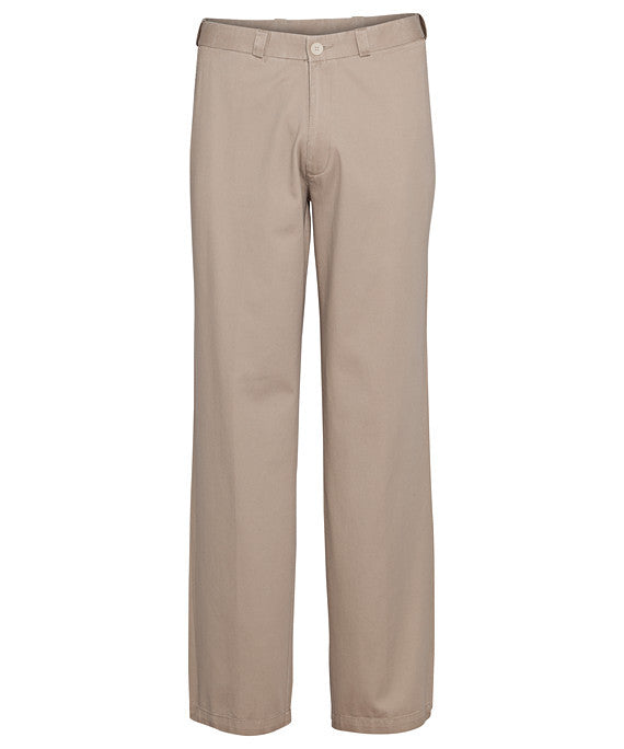 Bracks-Bracks Cotton Pant With Ezi Fit Waist Band-Beige / 82R-Corporate Apparel Online - 1