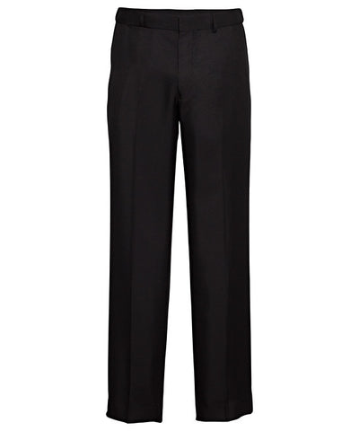 Bracks-Bracks Easy Care Flat Front Trouser With Extendable Waistband-Black / 77R-Corporate Apparel Online - 1