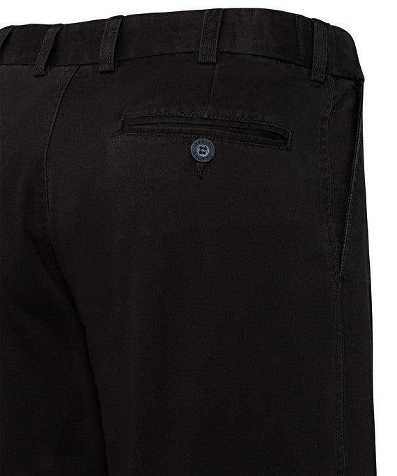 Bracks-Bracks Cotton 2 Pleat Pant With Ezi Fit Waist Band--Corporate Apparel Online - 2