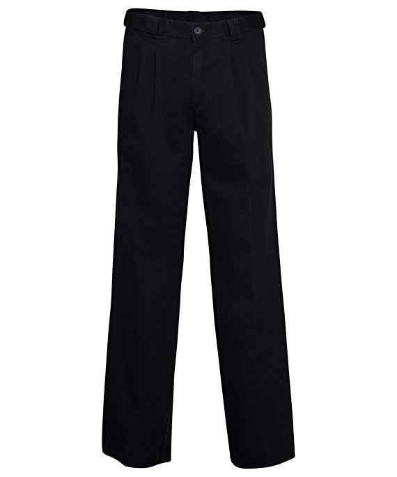 Bracks-Bracks Cotton 2 Pleat Pant With Ezi Fit Waist Band-Navy / 82R-Corporate Apparel Online - 5