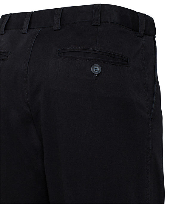 Bracks-Bracks Cotton 2 Pleat Pant With Ezi Fit Waist Band--Corporate Apparel Online - 6