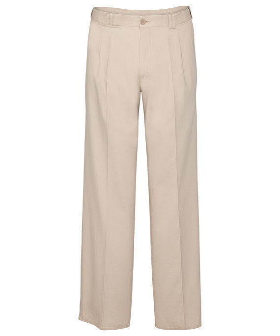Bracks-Bracks Cotton 2 Pleat Pant With Ezi Fit Waist Band-String / 82R-Corporate Apparel Online - 7