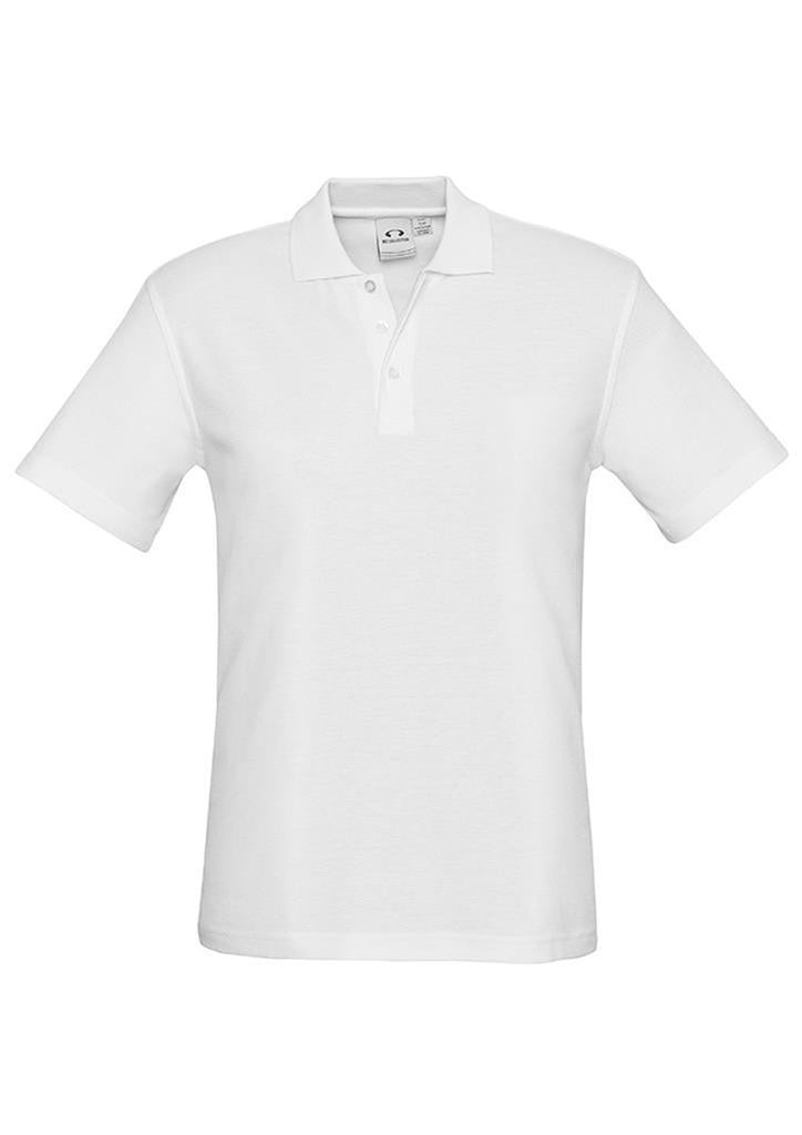 Biz Collection-Biz Collection Mens Crew Polo(1st 10 colours)-White / S-Corporate Apparel Online - 2