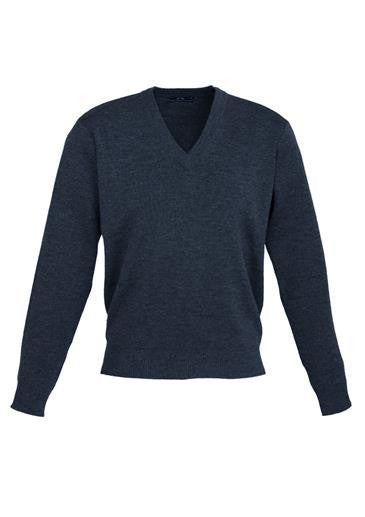 Biz Collection-Biz Collection Mens Woolmix L/S Pullover-Navy / XS-Corporate Apparel Online - 2