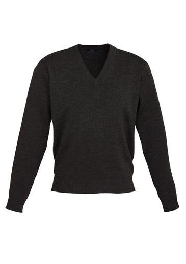 Biz Collection-Biz Collection Mens Woolmix L/S Pullover-Black / XS-Corporate Apparel Online - 3