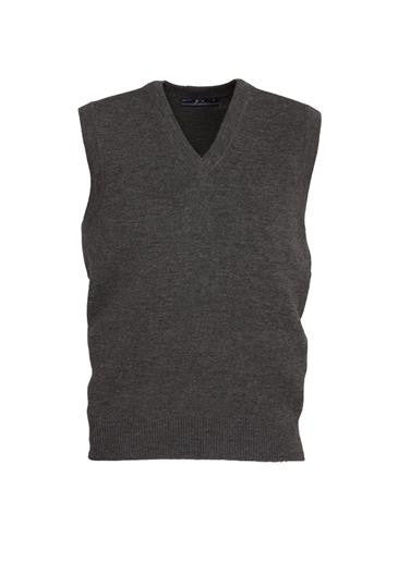 Biz Collection-Biz Collection Mens  Woolmix Vest-Charcoal / XS-Corporate Apparel Online - 4