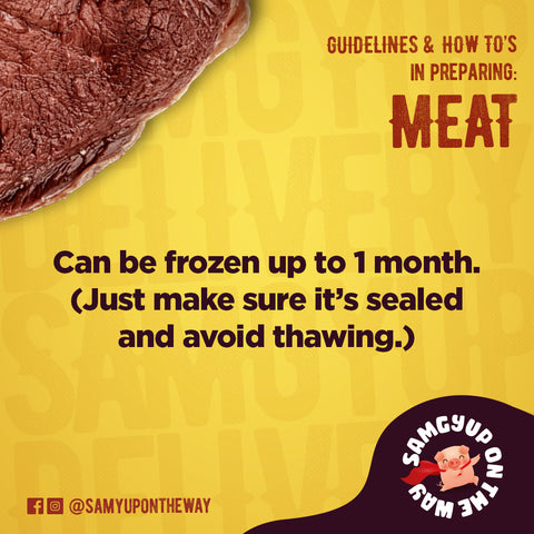 Can be frozen up to 1 month. Just make sure it's sealed and avoid thawing