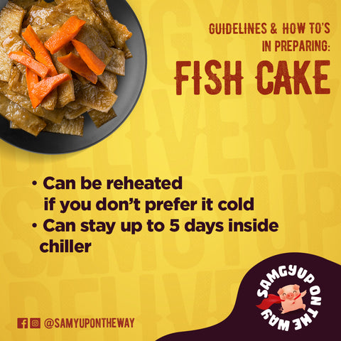 Can be reheated if you don't prefer it cold Can stay up to 5 days inside chiller