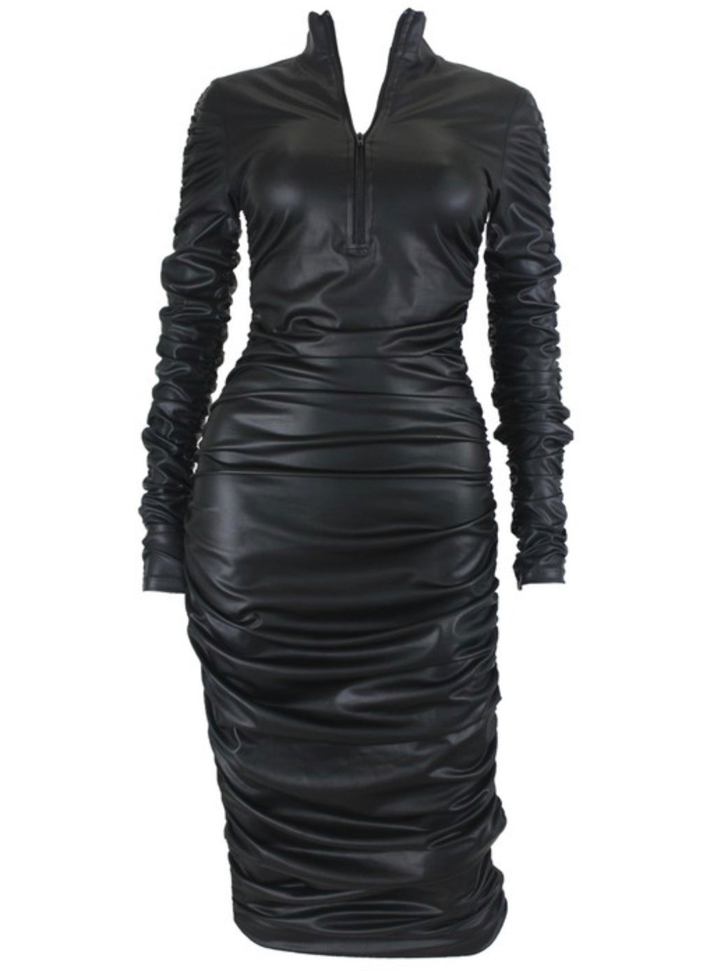 Body-ody Vegan Leather Dress