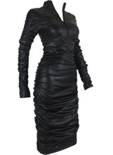 Load image into Gallery viewer, Body-ody Vegan Leather Dress
