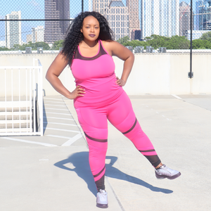 Curvy Sweat or Chill Set (Pink & Black)