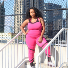 Load image into Gallery viewer, Curvy Sweat or Chill Set (Pink & Black)