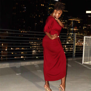 Shut It Down Dress (Burgundy)