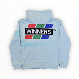 Winners Checkered Track Set Jacket - Baby Blue
