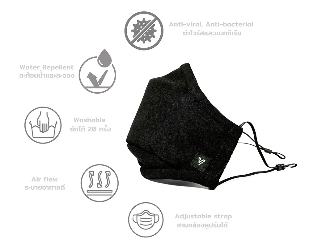 Our masks are an innovative item treated by a Swiss textile technology, HeiQ Viroblock, which aims to prevent people from pathogenic agents like Sars-Cov-2.