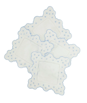 Swiss Dot Cocktail Napkins, Set of 6