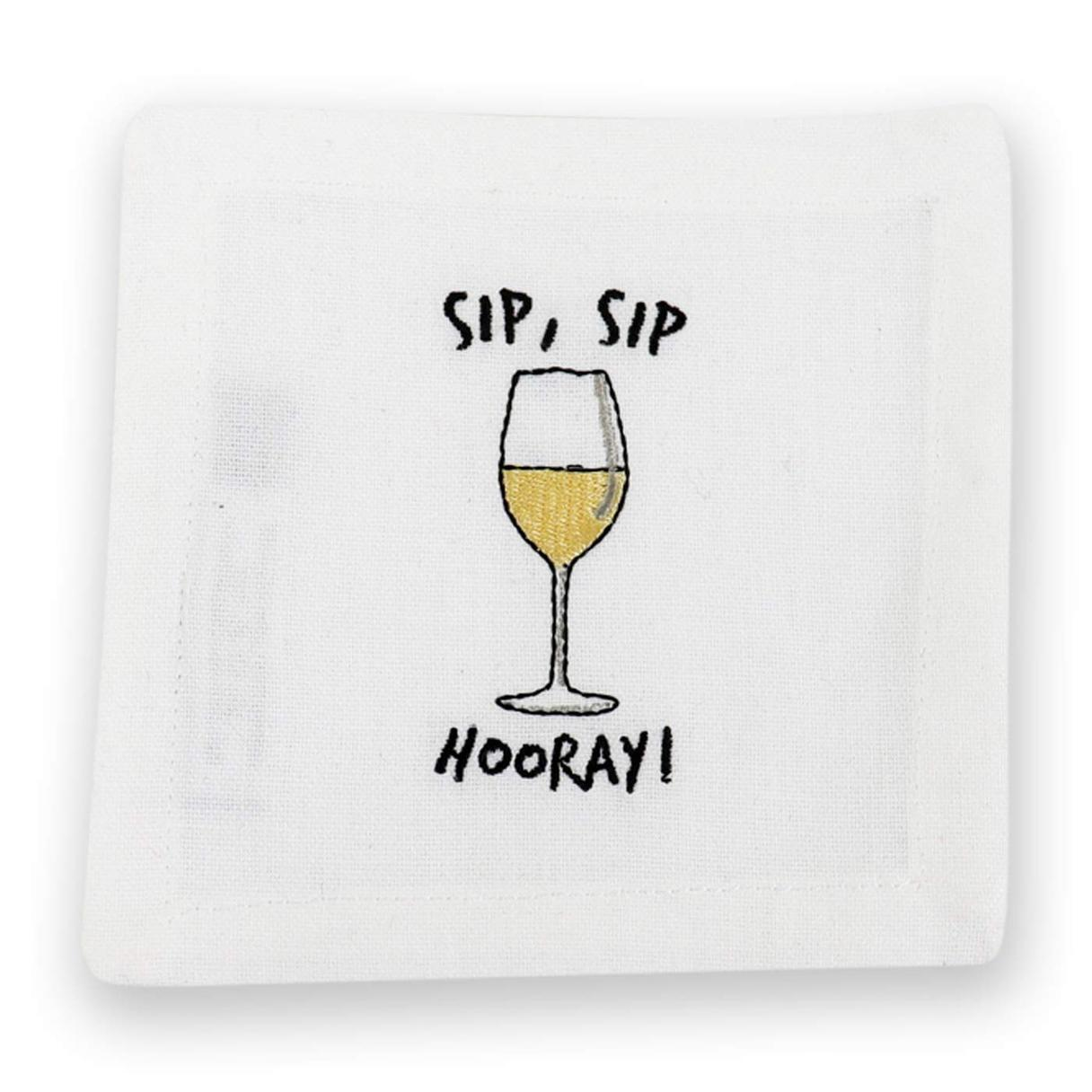 Sip Sip Hooray Cocktail Napkins, Set of 4