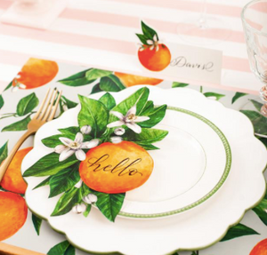 Orange Orchard Place Card