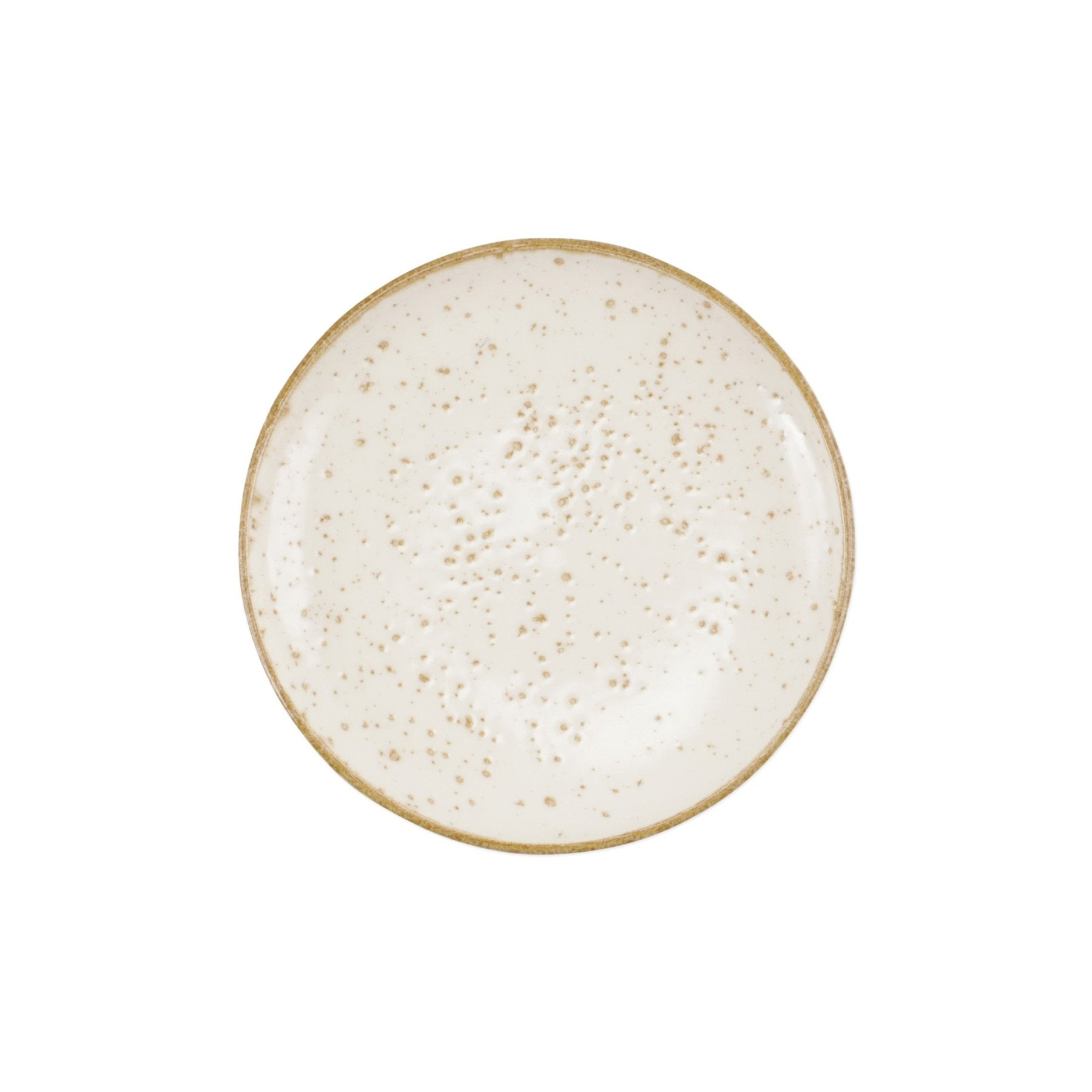 Earth Cocktail Plate, Eggshell
