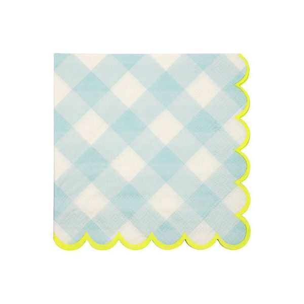 Blue Gingham Napkins- Small