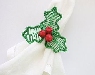 Holly Berry Napkin Holder