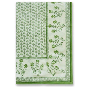 Phlox Green Tablecloth