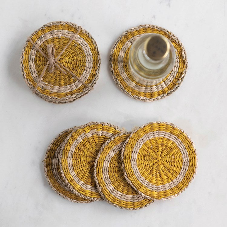 Round Seagrass Coasters (Set of 4)