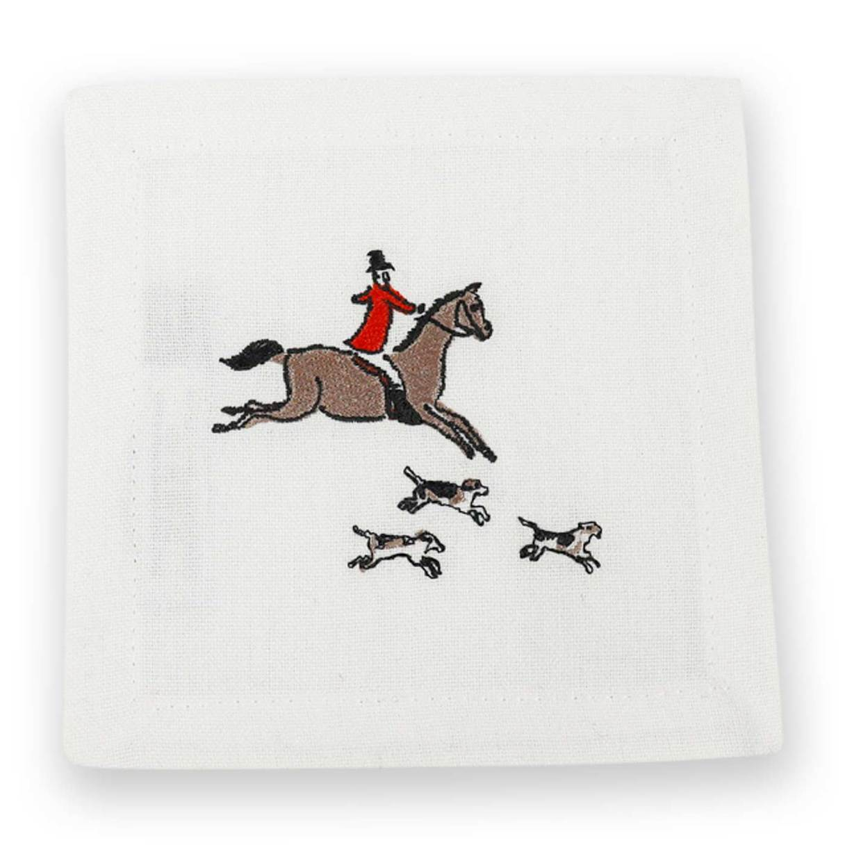 Hunt Cocktail Napkins, Set of 6