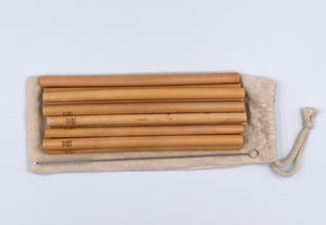 Bibol Hut Bamboo Straws, Set of 12