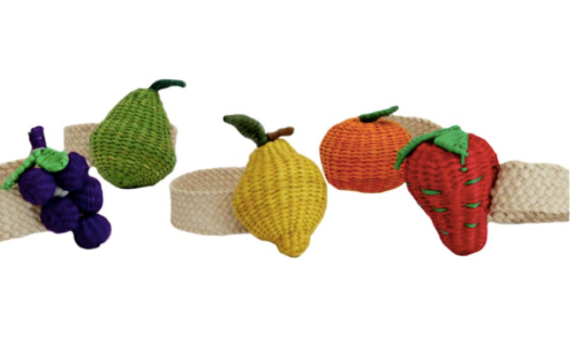 Mixed Fruits Napkin Holder