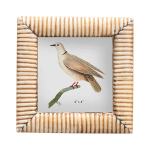 4x4 Wood and Bone Picture Frame