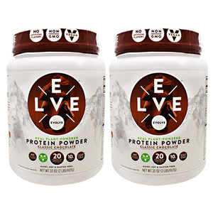 Protein Powder, Classic Chocolate, 2 - 2 lbs (907 g) Containers