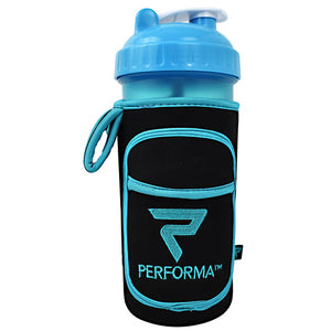 Fitgo Shaker Cup Holder, Turquoise And Black, 28 oz.