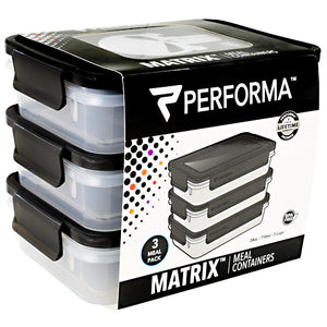 Meal Prep Containers, 3 - 24 oz Containers