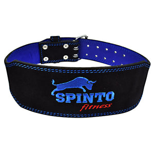 Suede Leather Belt, 1 Black And Blue Belt