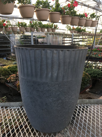 Zen Tall Planter (Narrow) - Fieldstone Grey