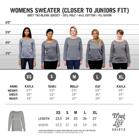 off the shoulder sweater size chart