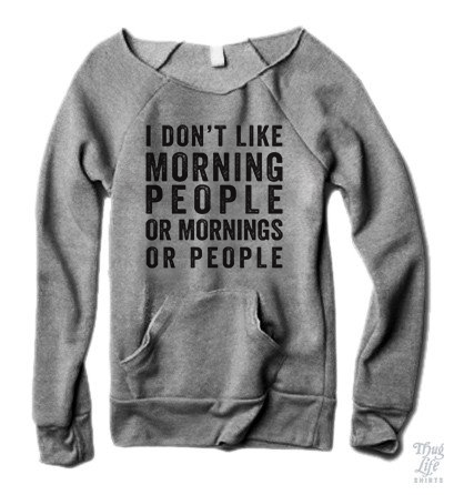 I Don't Like Morning People Sweater
