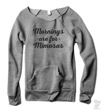 Mornings Are For Mimosas Sweater