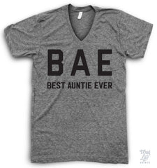 Bae Best Auntie Ever V Neck